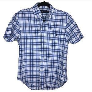 Ralph Lauren Classic Fit Plaid Shirt Blue Mens